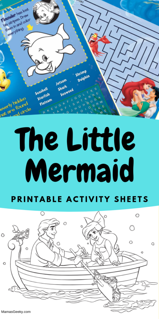 The Little Mermaid Printable Activity Sheets