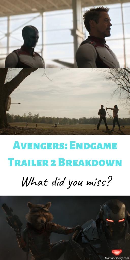 Avengers 4 Endgame Trailer 2 Breakdown
