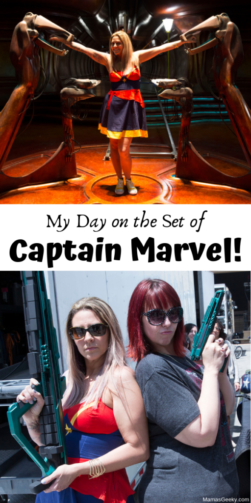 on the set of captain marvel