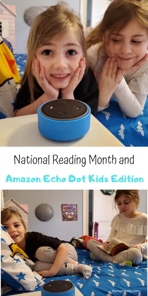 Celebrate National Reading Month with Amazon Echo Dot Kids Edition