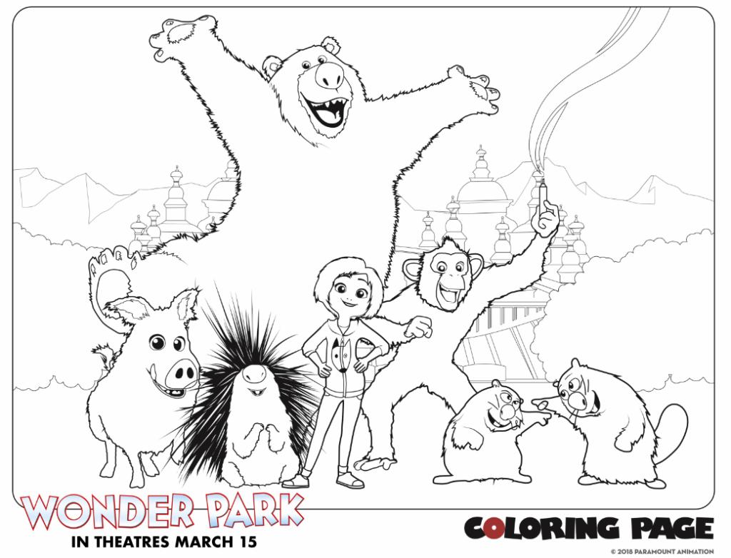 Wonder Park Coloring Page Group