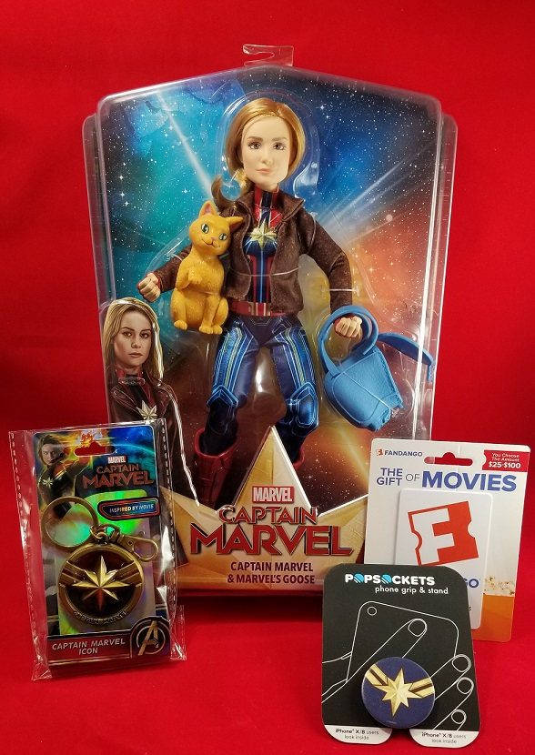 captain marvel prize pack