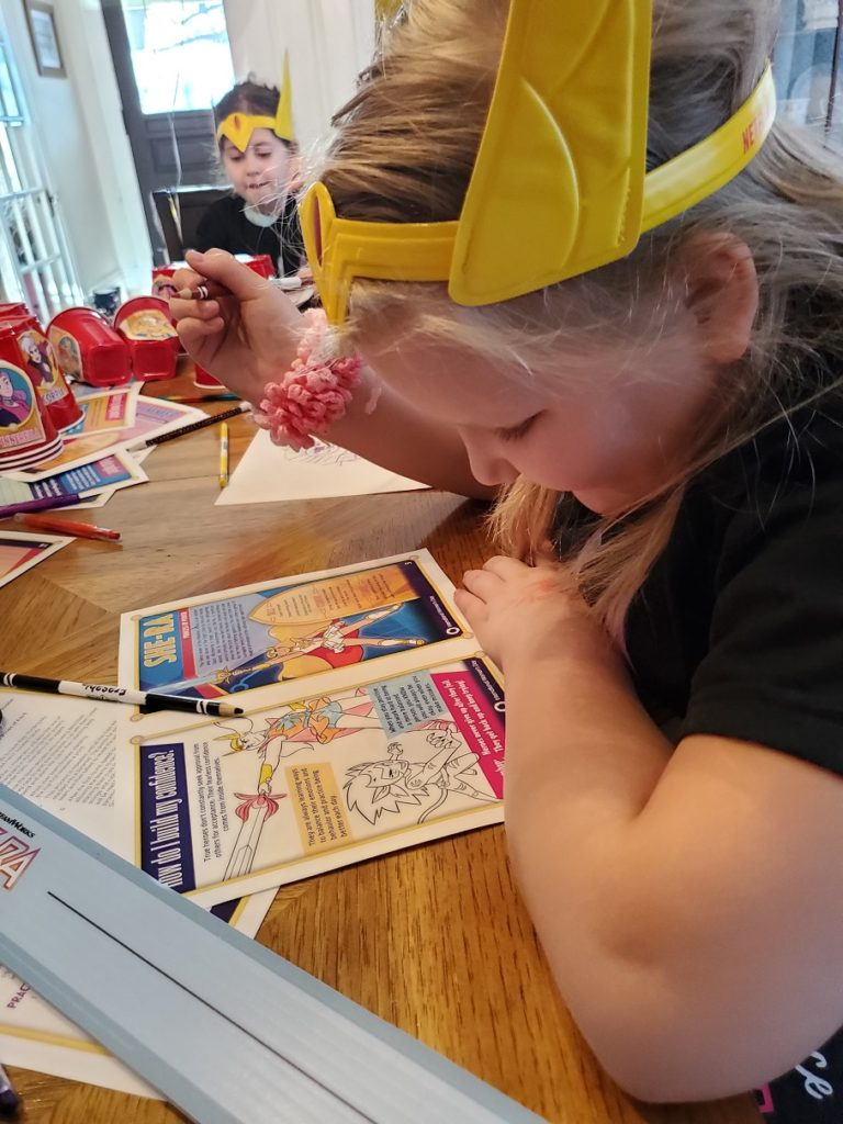 she-ra party coloring