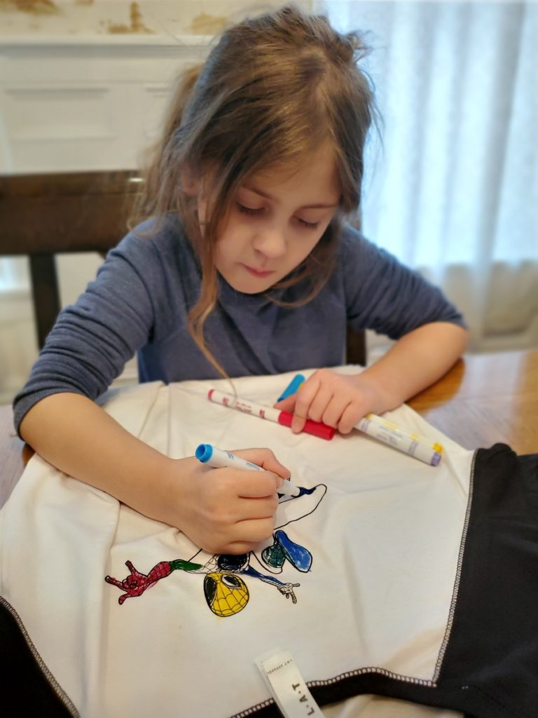 spider-man tshirt coloring activity