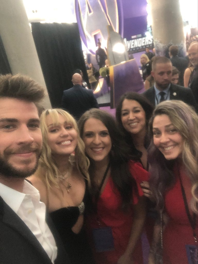 Avengers Endgame Premiere Liam Hemsworth and Miley Cyrus