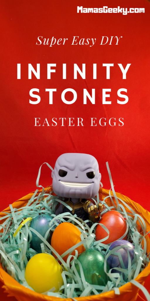 DIY Infinity Stones Easter Eggs