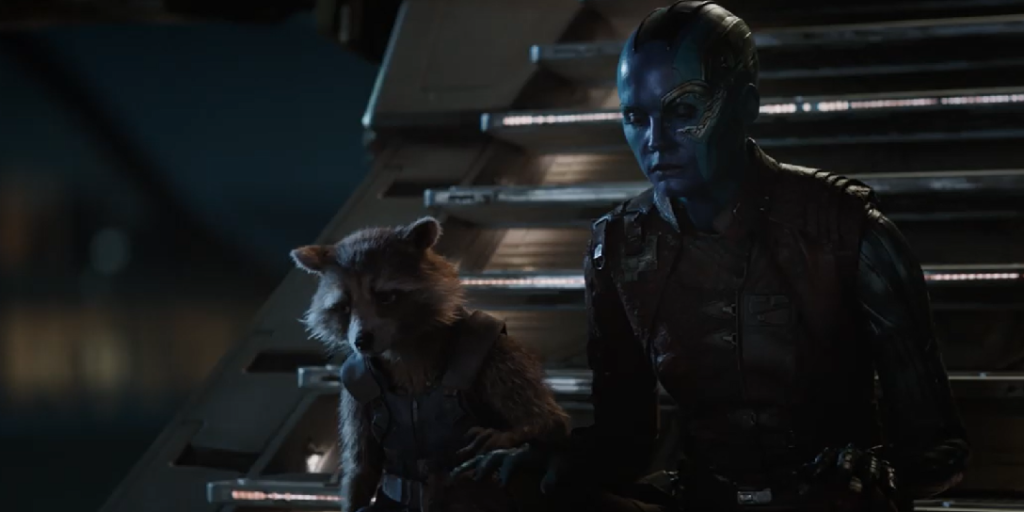 avengers endgame rocket and nebula mourn