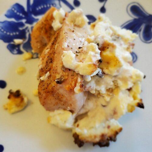 keto cream cheese stuffed chicken