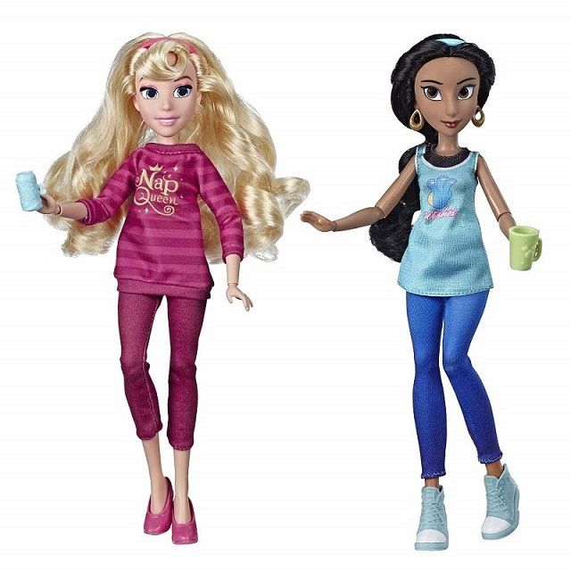 Aurora and Jasmine comfy princess dolls