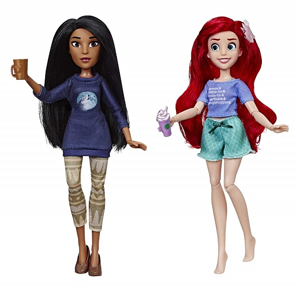 Comfy Pocahontas and Ariel dolls