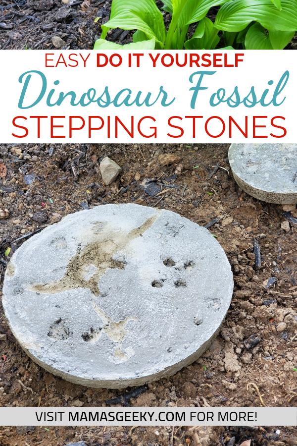DIY Dinosaur Fossil Stepping Stones