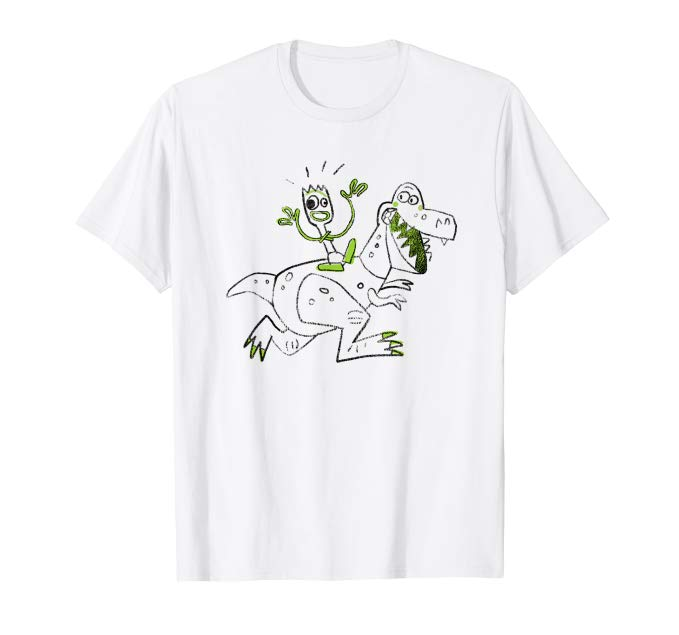 Forky Riding Rex Toy Story 4 Tee