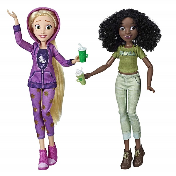 comfy Rapunzel and Tiana