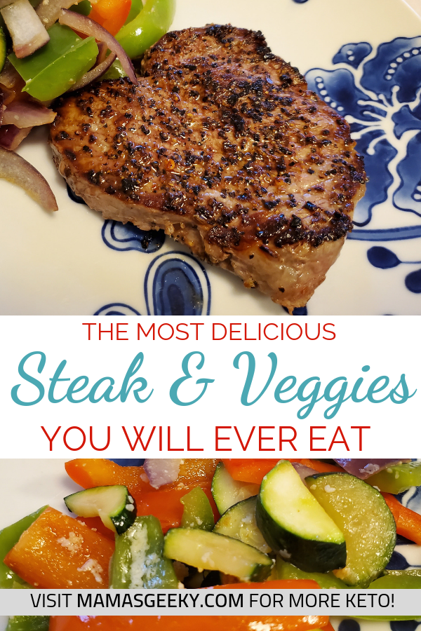 keto steak and veggies