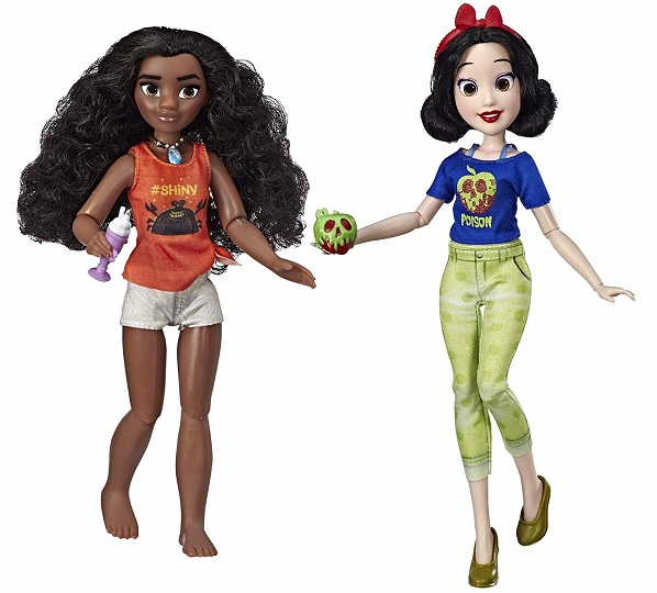 moana and snow white comfy princess dolls