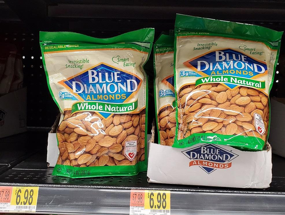 Blue Diamond Whole Natural Almonds at Walmart