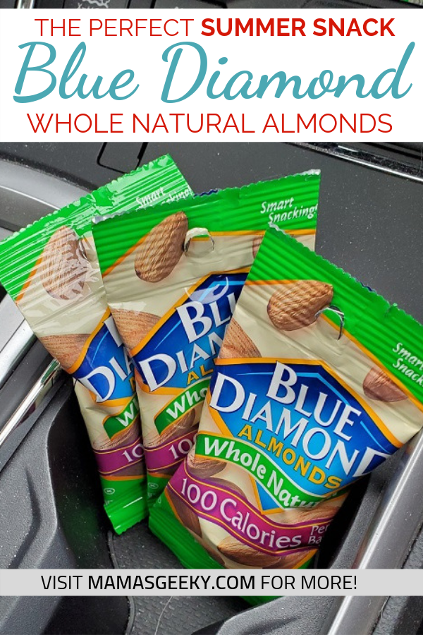 Blue Diamond Whole Natural Almonds a great summer snack