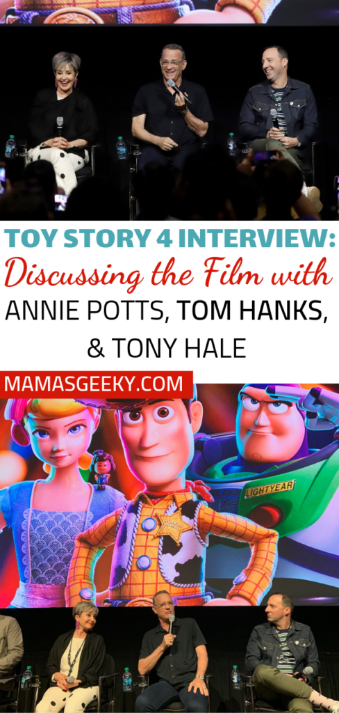 Toy Story 4 interview Annie Potts, Tom Hanks, Tony Hale