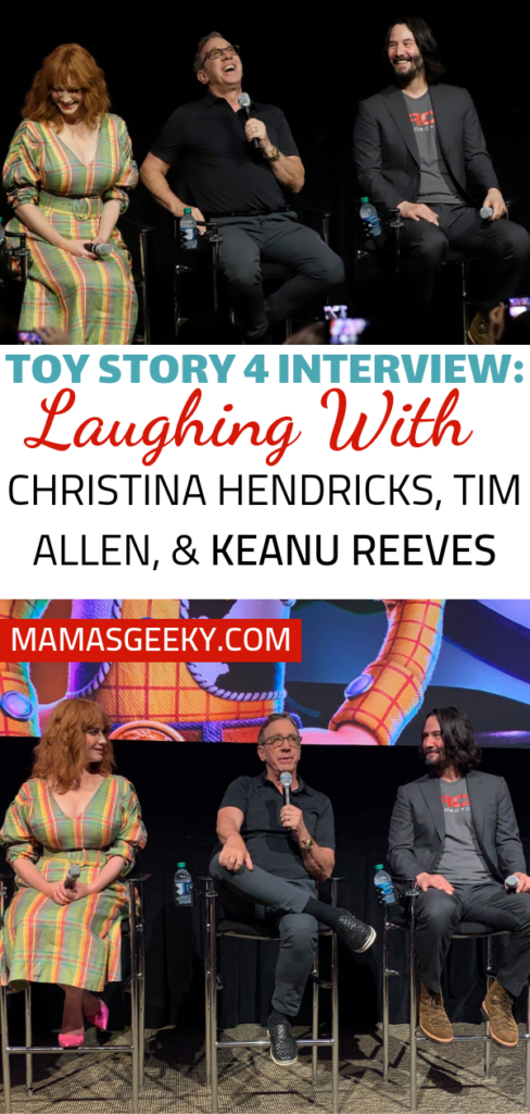 Toy Story 4 interview Christina Hendricks Tim Allen Keanu Reeves