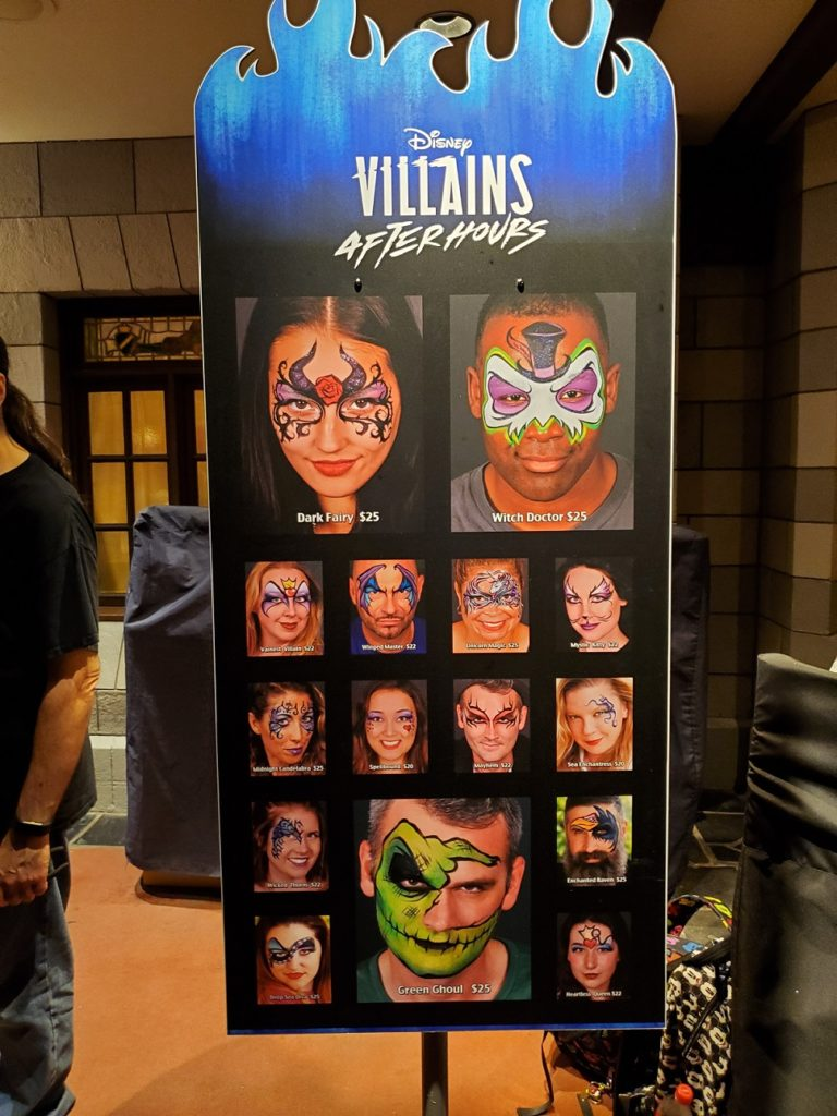 Villains After Hours facepaint