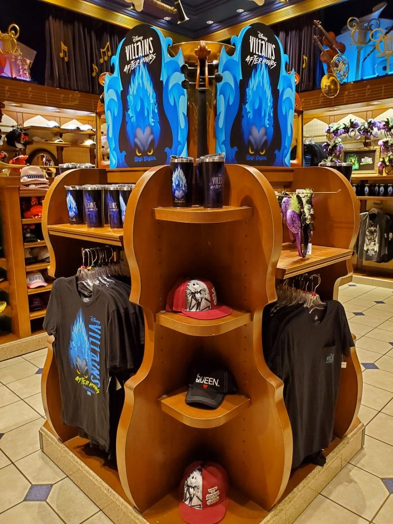 Villains After Hours merchandise in park