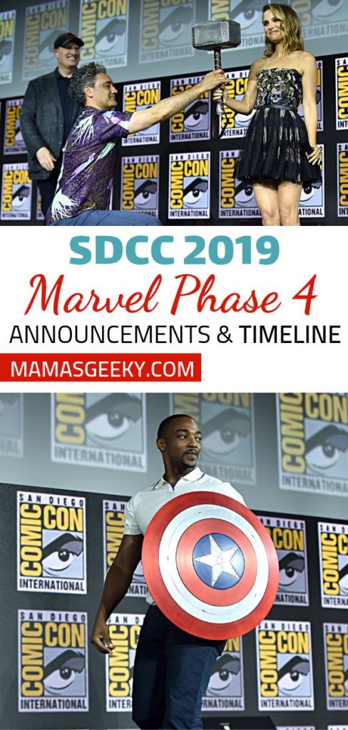 Marvel Phase 4 Time Line & News from SDCC | Mama's Geeky