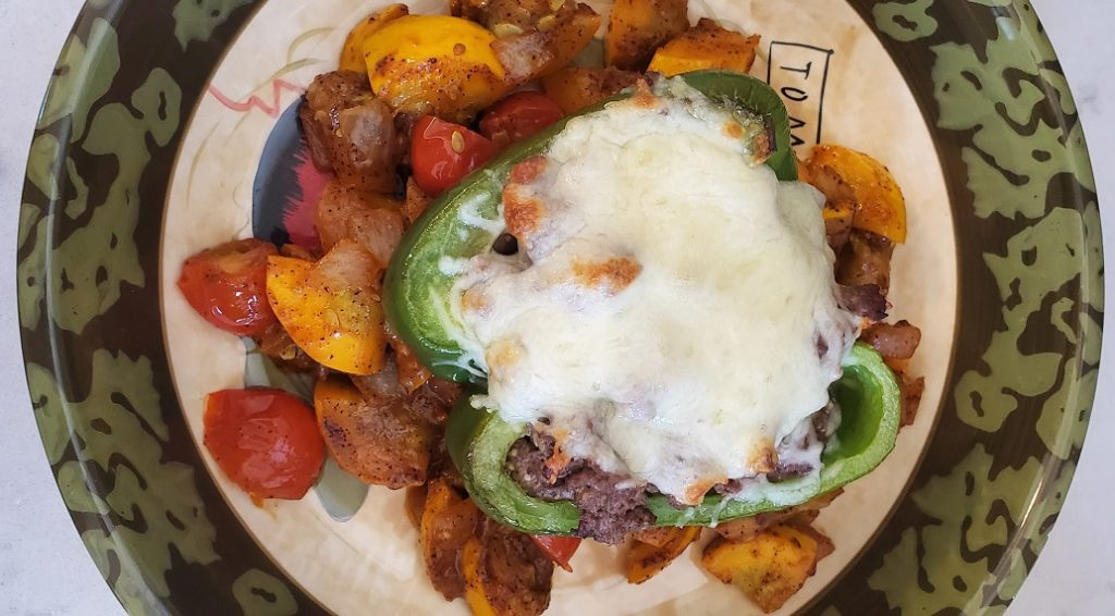 Keto Philly Steak Stuffed Peppers