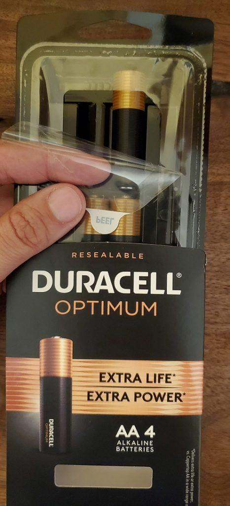 Duracell Optimum resealable