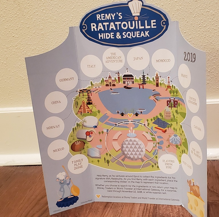 Remy's Ratatouille Hide & Squeak Empty Map