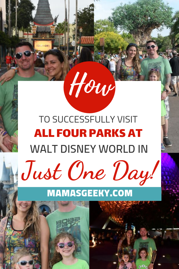four disney world parks one day