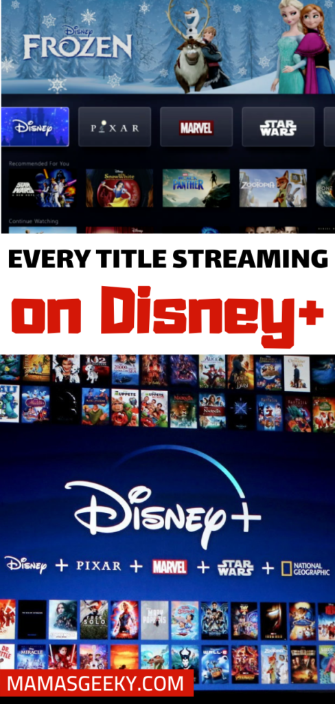 Disney+ Titles Streaming at launch