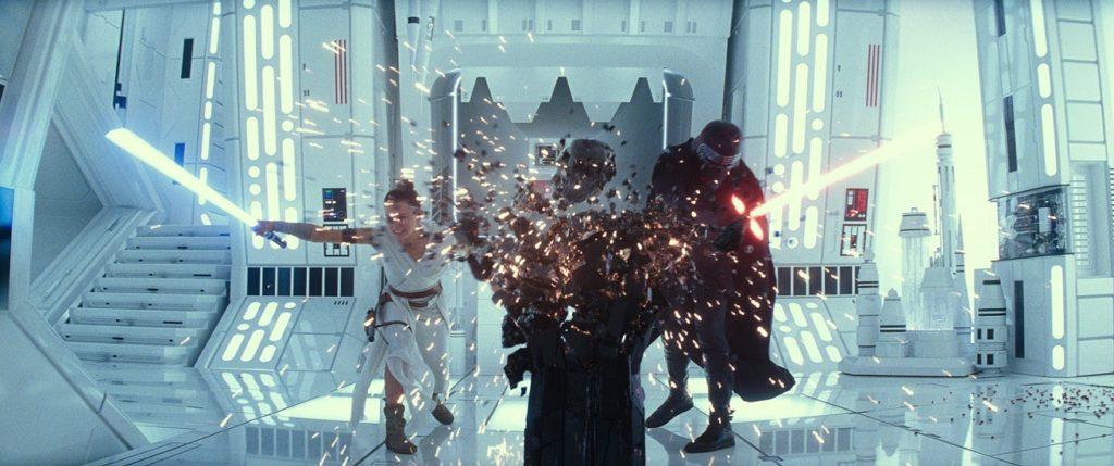Kylo Ren and Rey Rise of Skywalker