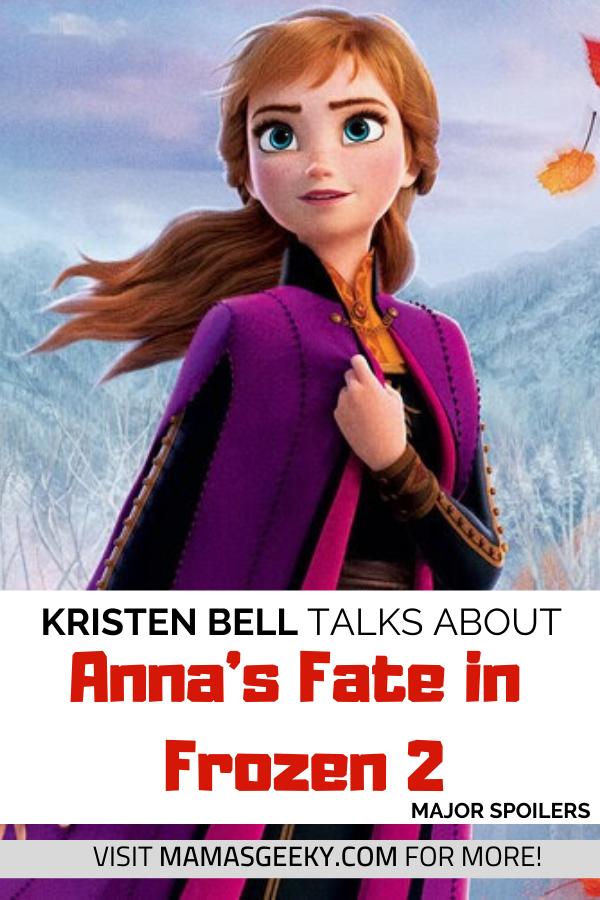 How Kristen Bell Felt When She First Read Anna S Fate In Frozen 2