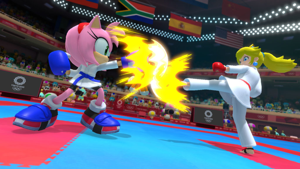 Mario & Sonic Olympic Games Tokyo 2020 switch karate