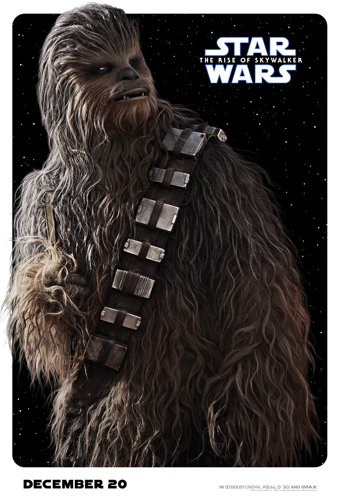 the rise of skywalker poster chewbacca