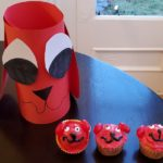 Clifford The Big Red Dog Party Ideas: Cupcake Recipe & Table Decoration Craft