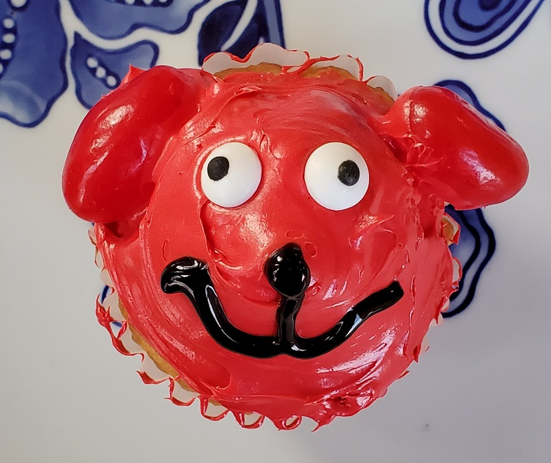 Clifford the Big Red Dog Cupcakes