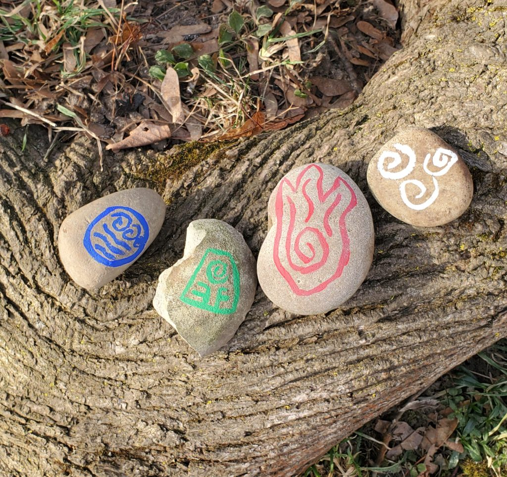 Avatar Elemental Rock Painting