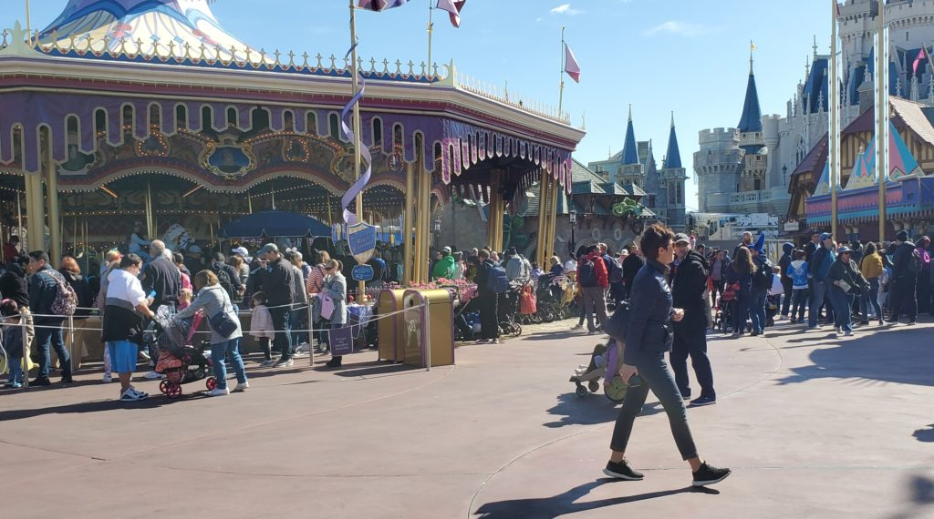 Magic kingdom during non-peak time