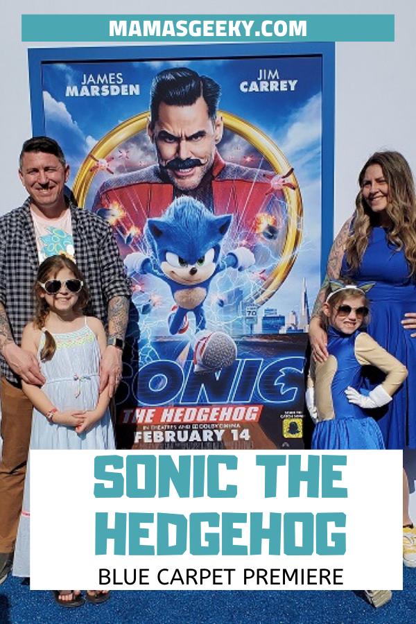Sonic the hedgehog blue carpet premiere