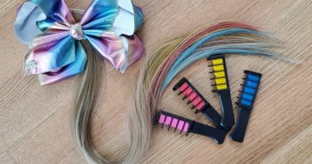jojo siwa inspired rainbow ponytail bow