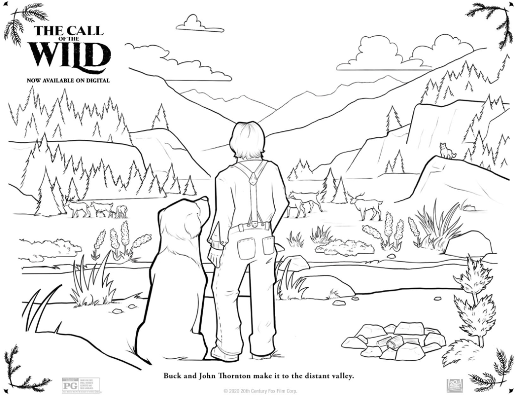 call of the wild coloring page