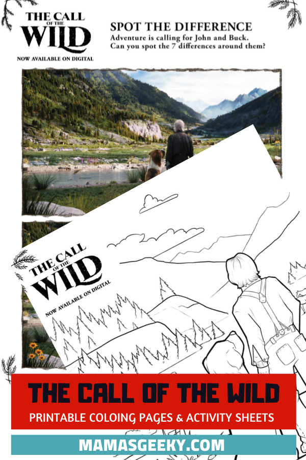 call of the wild printables