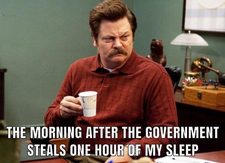 15+ Of The Best & Funniest Daylight Savings Time Memes