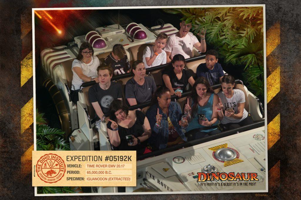 disney ride photo dinosaur