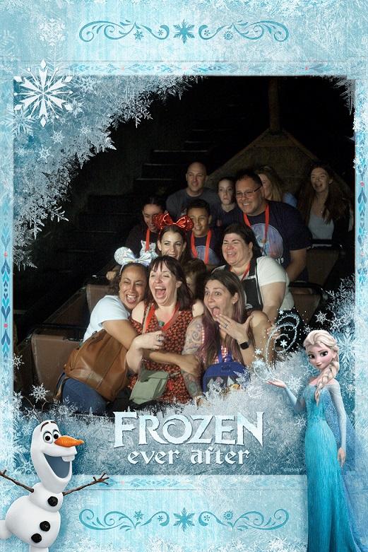 disney ride photo frozen