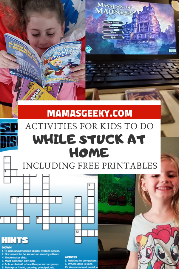 activities for kids to do while stuck at home