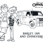 Pixar's Onward Printable Activity & Coloring Pages