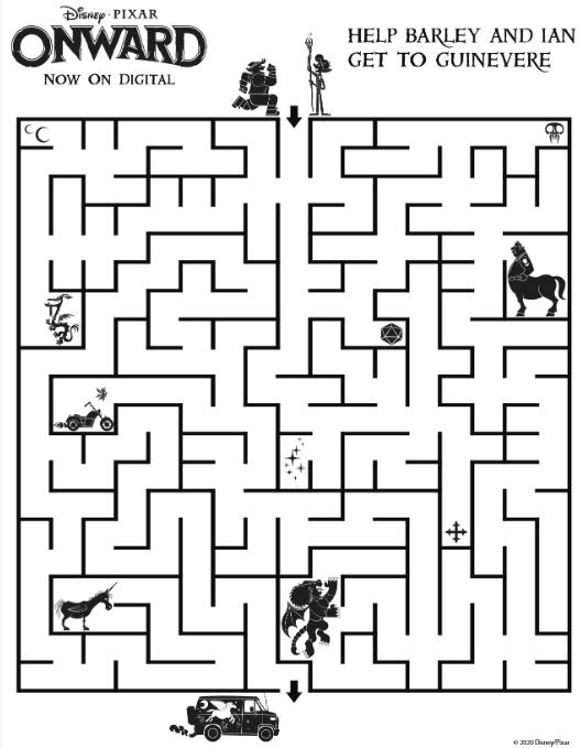 pixar onward maze