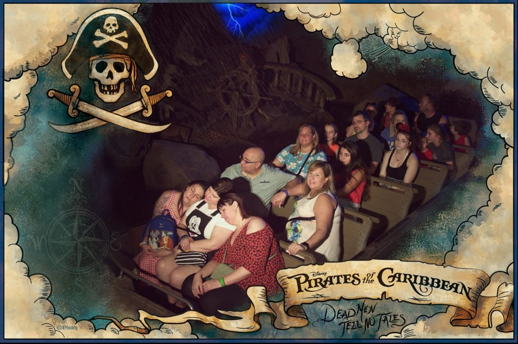 disney ride photo pirates of the caribbean